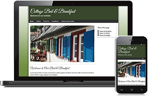 Bed and Breakfast website example